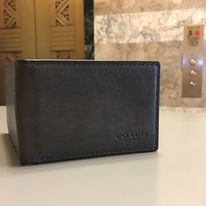 Genuine Leather Coach Card Wallet
